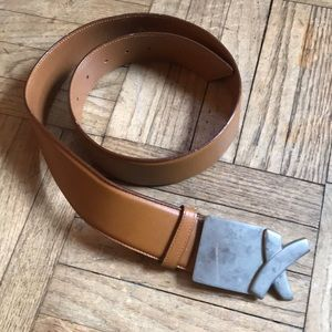 Vibtage Picasso Tan Leather Belt